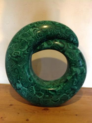 Circle of life - malachite scagliola