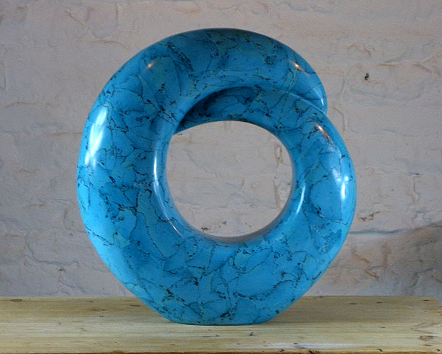Circle of Life - Turquoise Scagliola